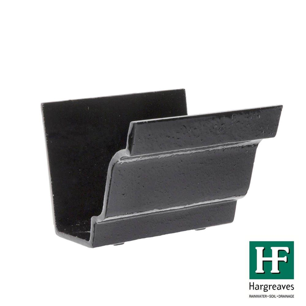 Cast Iron Moulded Ogee Gutter Union - 125mm Black