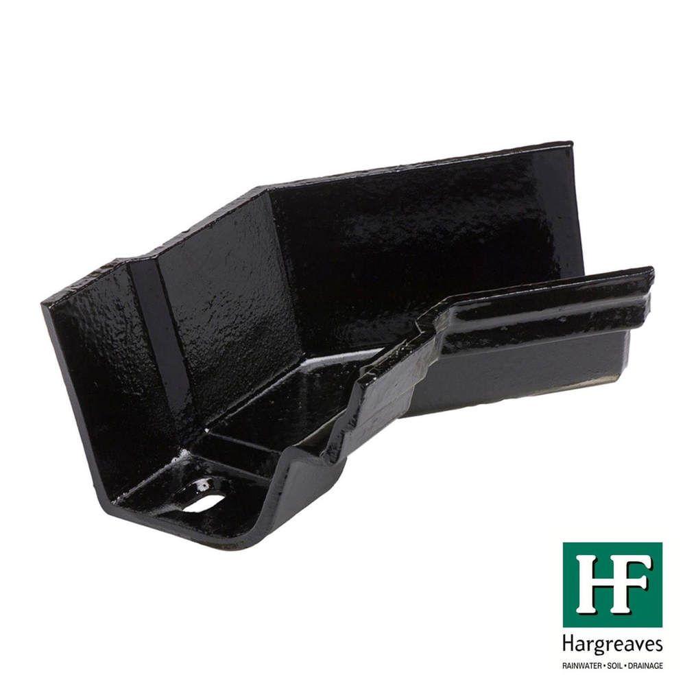 Cast Iron Notts Ogee Gutter Internal Angle - 135 Degree x 115mm Black