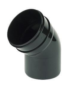 Industrial/ Xtraflo Downpipe Solvent Weld Offset Bend Bottom - 110mm Black