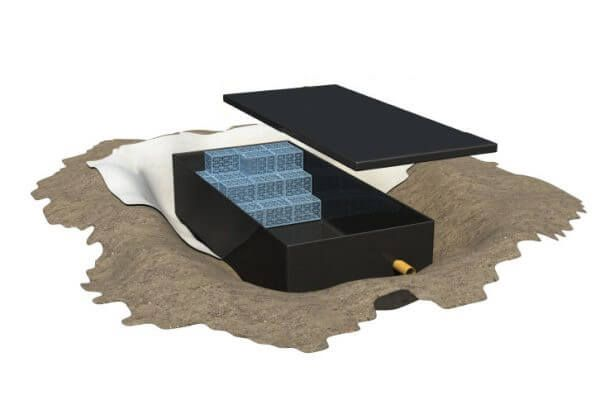 Impermeable Liner for Attenuation - Landflex AS Shoebox - Heavy Shallow 20 Cubic Metre