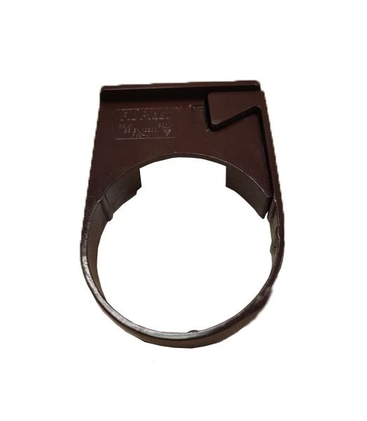 Mini Gutter Downpipe Clip - 50mm Brown