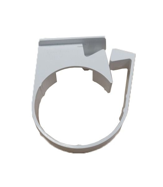 Mini Gutter Downpipe Clip - 50mm White