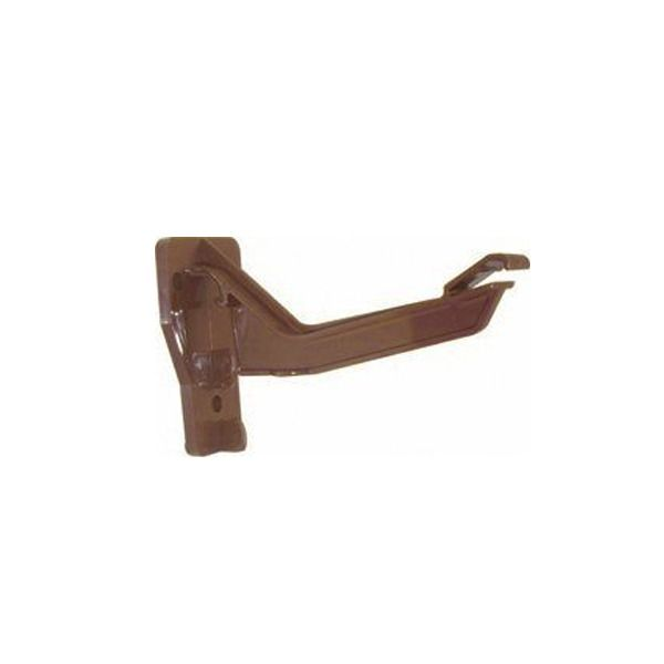 Ogee Gutter Top Hung Fascia Bracket - 110mm x 80mm Brown