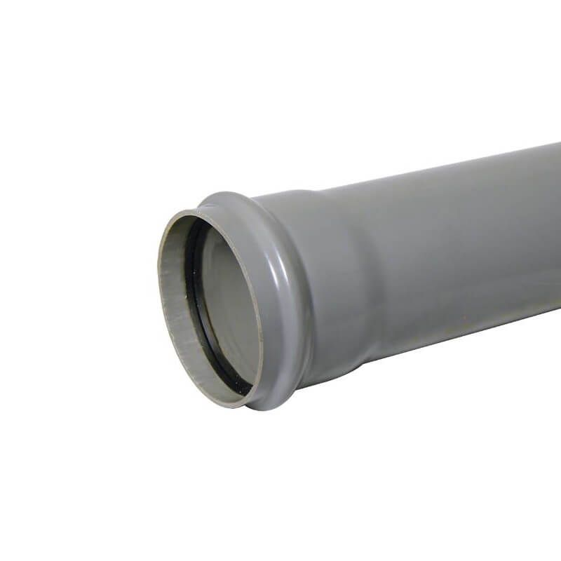Industrial/ Xtraflo Downpipe Single Socket - 110mm x 1mtr Grey