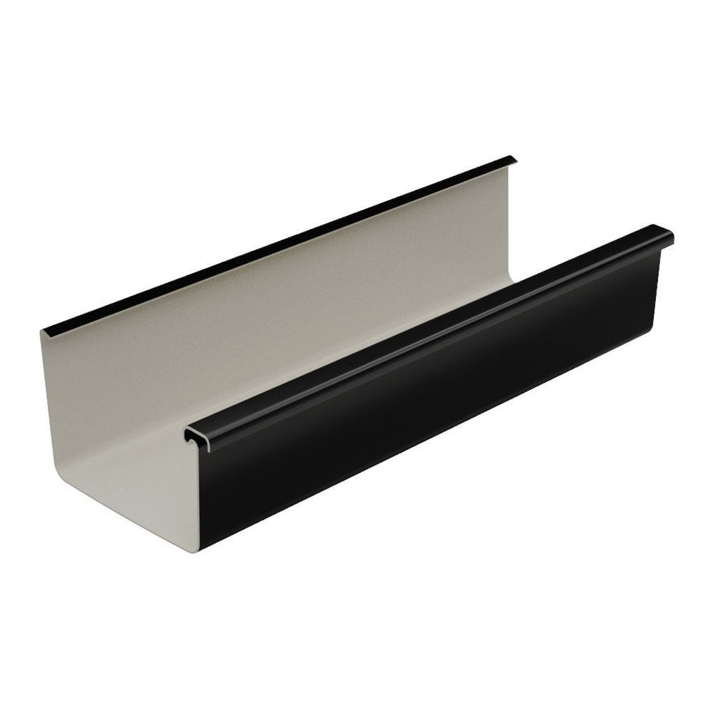 Square Gutter Large - 135mm x 4mtr Black