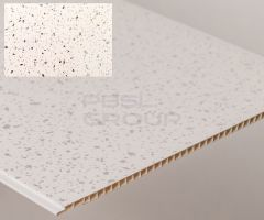 Bathroom & Kitchen Cladding Aqua250 PVC Panel - 250mm x 2700mm x 5mm White Sparkle - Pack of 4