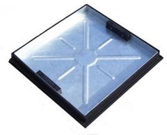 Manhole Cover Recessed - 10 Tonne x 450mm x 450mm x 80mm for 450mm Circular Chambers