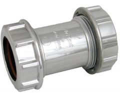 Chrome Style Waste Straight Coupling - 32mm