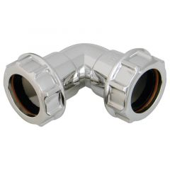 Chrome Style Waste Bend - 90 Degree x 32mm