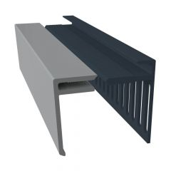 Weatherboard Cladding Vented Top Edge Closer Trim - 25mm Storm Grey