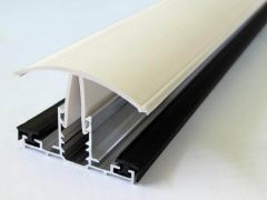 PVC Capped Rafter Bar Rafter Supported - 4mtr White