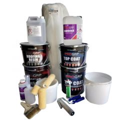 PRO GRP Roofing Kit - for 40SQM Roofs With Tools