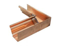 Copper Large Ogee Gutter Internal Corner - 135 Degree x 152mm