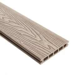 WPC Double Faced Decking Plank Natural - 25mm x 3000mm (L) x 148mm (W)