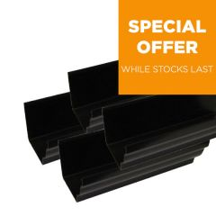 Ogee Gutter - 110mm x 80mm x 3mtr Black - Pack of 4
