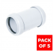 Push Fit Waste Coupling - 32mm White - Pack of 5