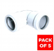 Push Fit Waste Bend Knuckle - 90 Degree x 32mm White - Pack of 5
