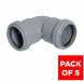 Push Fit Waste Bend Knuckle - 90 Degree x 32mm Grey - Pack of 5