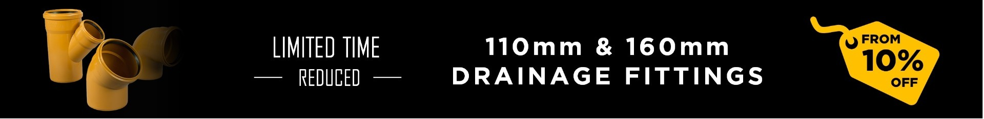 110mm & 160mm Drainage Promotion Banner