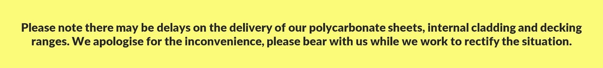 Potential Delays Warning Banner