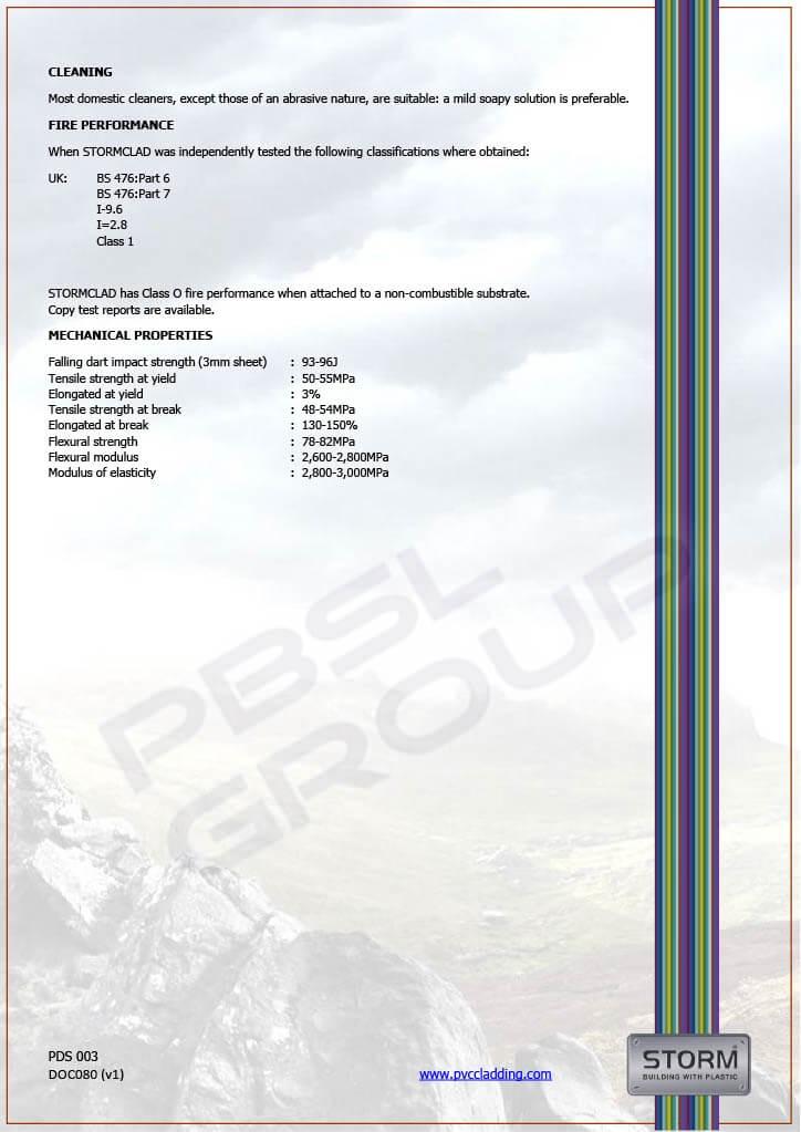 Food Grade Hygiene Cladding - Datasheet 2