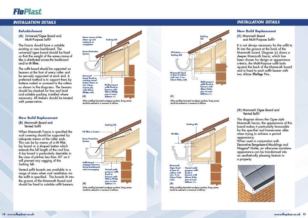 UPVC Roofline Installation Instructions